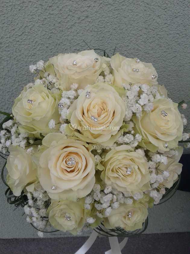 Bouquet Sposa Con Swarovski.Bouquet Con Swarovski Di I Fiori Di Laura Sas Foto 9