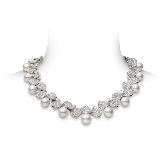 Girocollo oro diamanti e perle