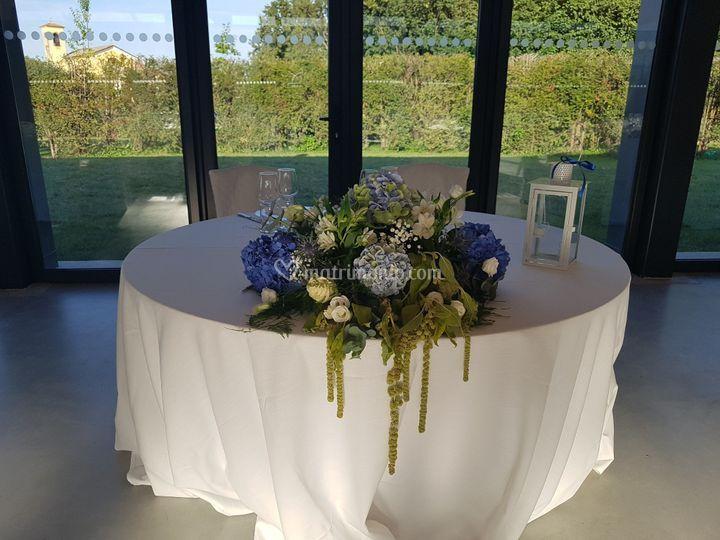 Composizione tavoli sposi
