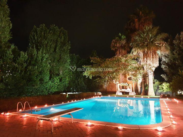 Zona relax parco piscina