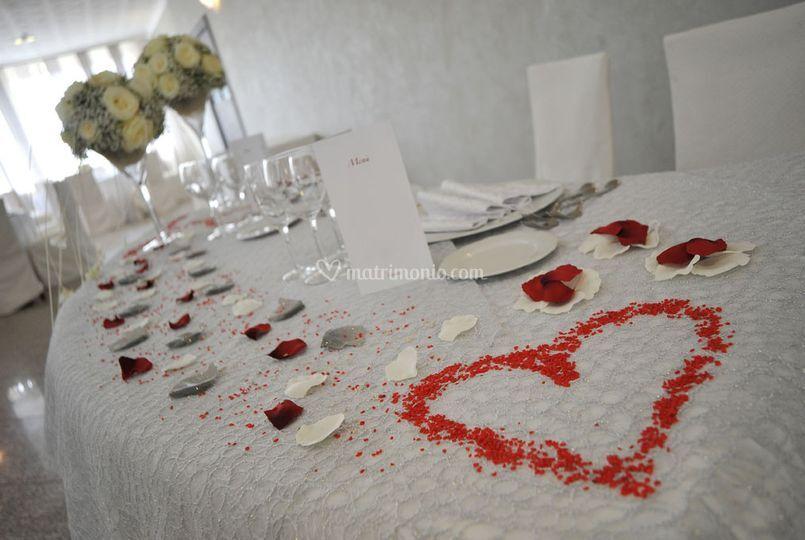 Dettaglio Tavolo Sposi
