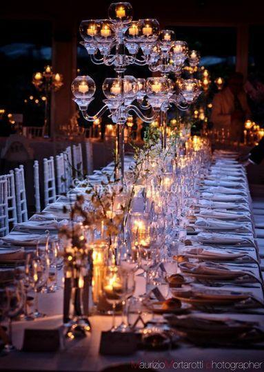 Allestimento tavolo imperiale