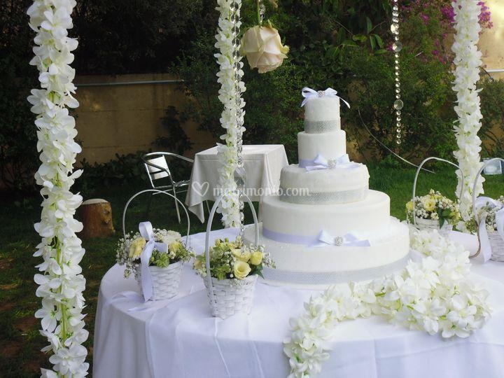 Tavolo torta glamour