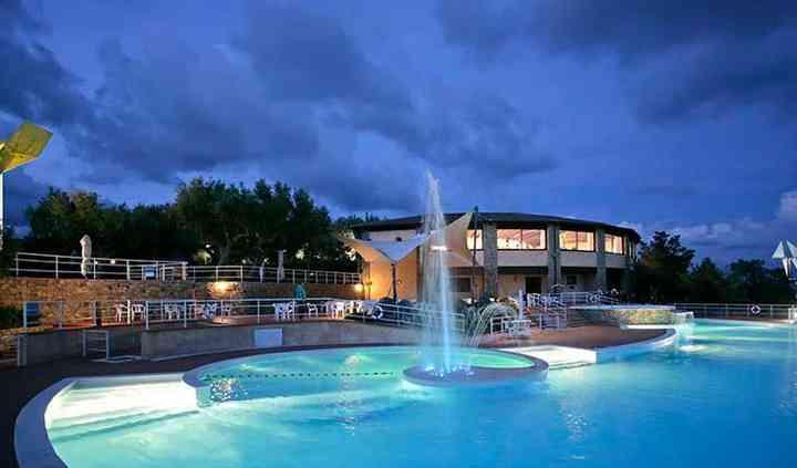 La piscina della struttura
