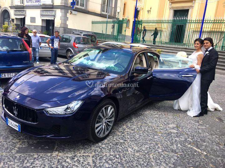 Maserati Ghibli blu