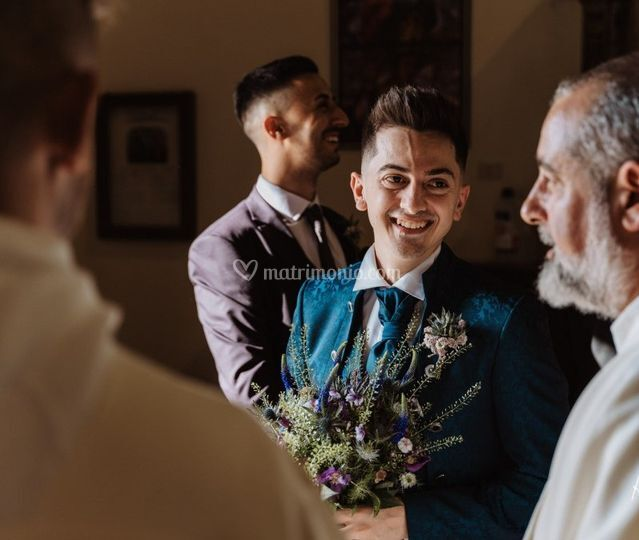 Bouquet e spilla Sposo