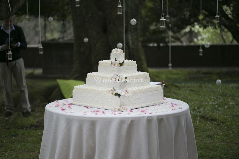 La torta in giardino