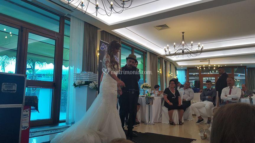 Spettacolo al matrimonio