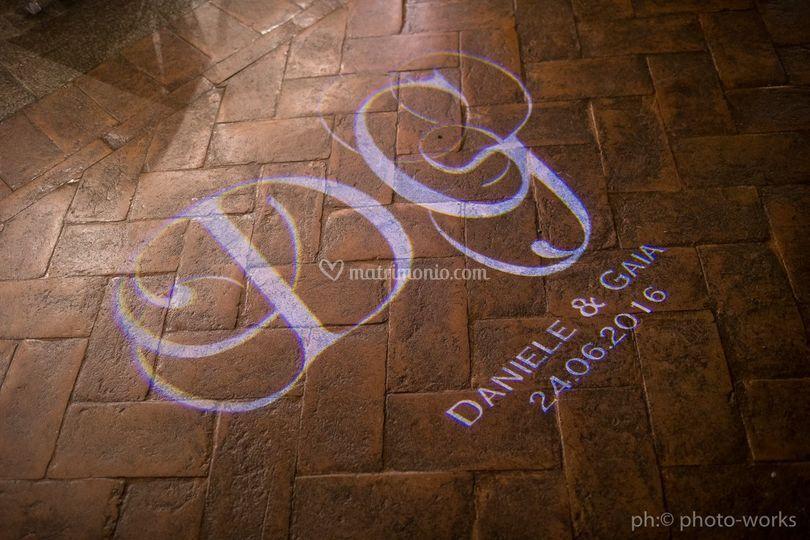 Scritta sul pavimento