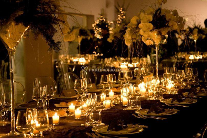 Cena nozze in inverno