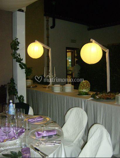 Particolare tavolo buffet