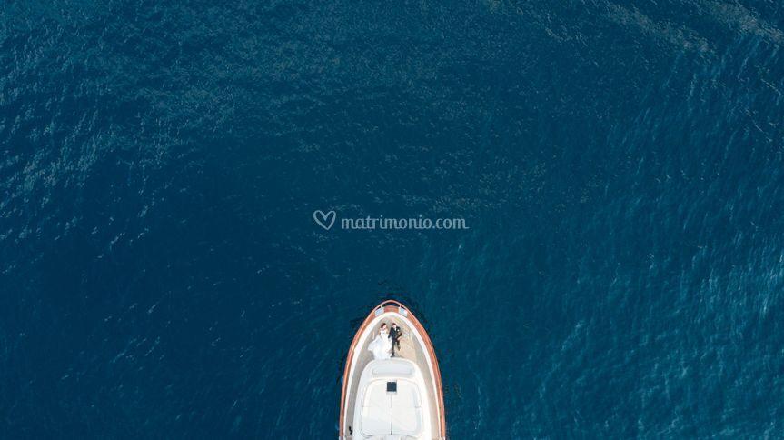 Foto barca dall'alto