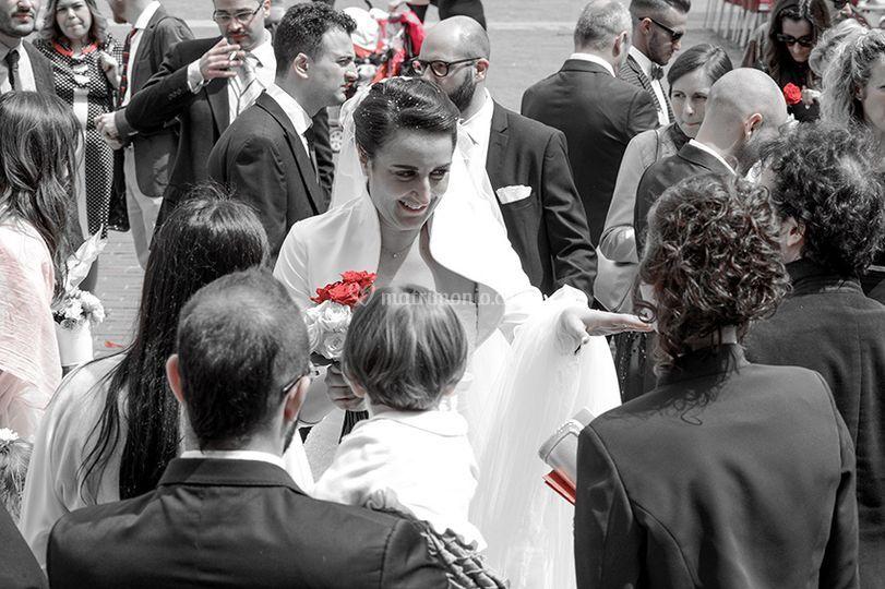 La sposa fra parenti e amici.