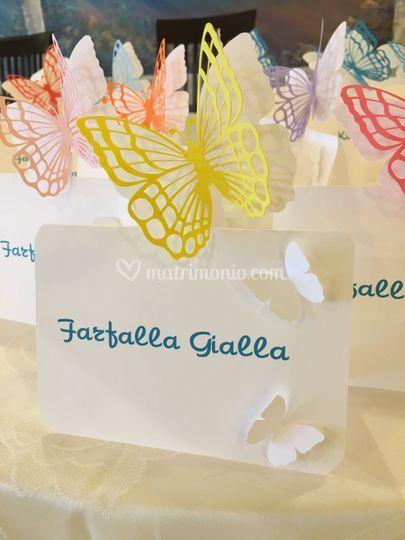 Segna tavolo con le farfalle