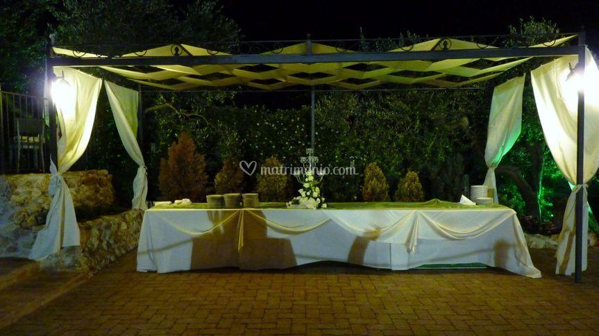 Il tavolo del buffet