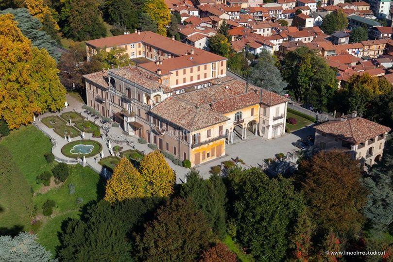 Veduta aerea Villa Cagnola