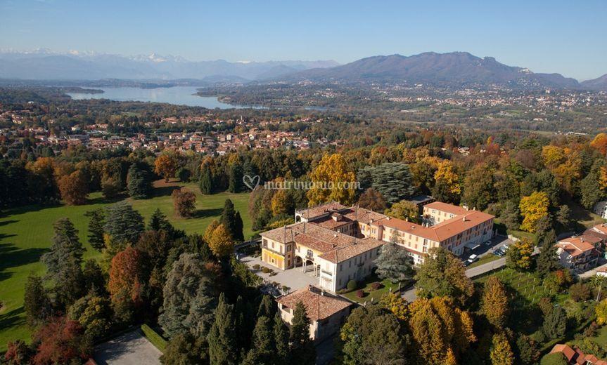 Villa e panorama - elicottero