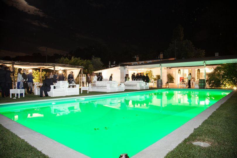 La nostra piscinaa illuminata