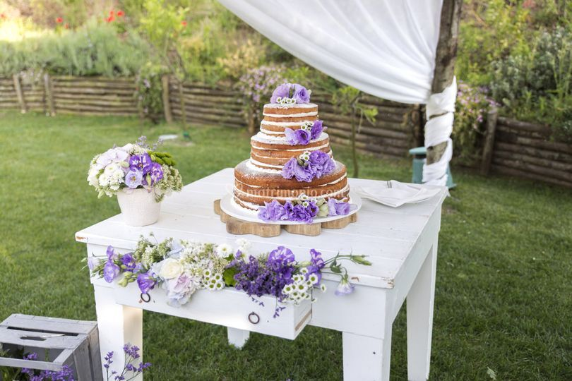 Romantico taglio della Torta