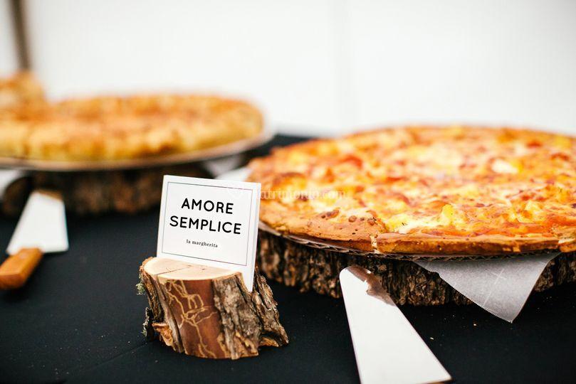 Pizze su tronchi