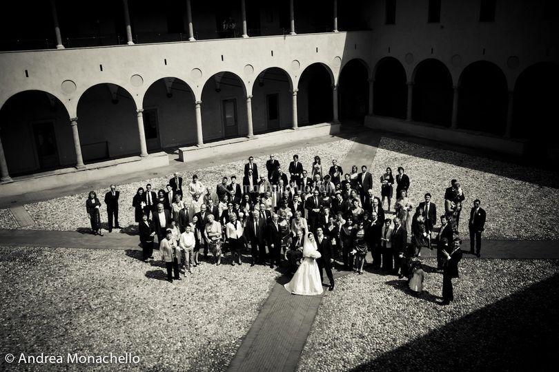 Gli sposi e gli invitati