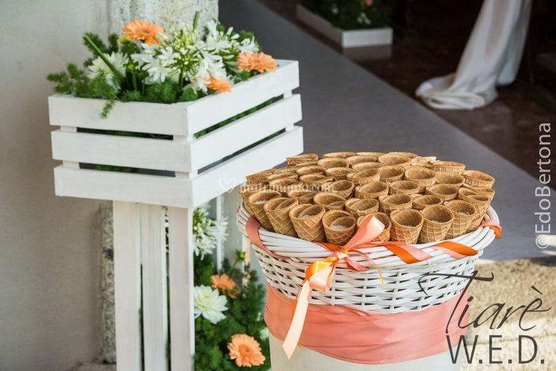 Matrimonio Tema Gelato : Tiaré floral designers