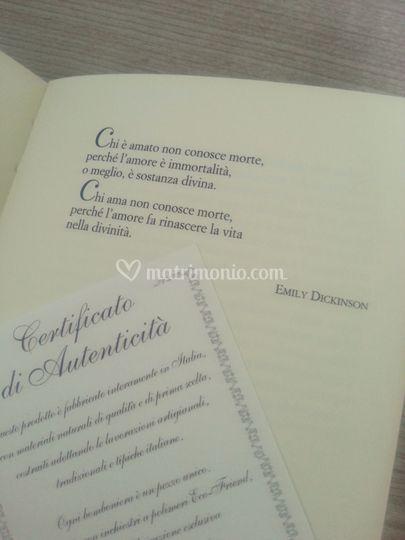 Certificato autenticità