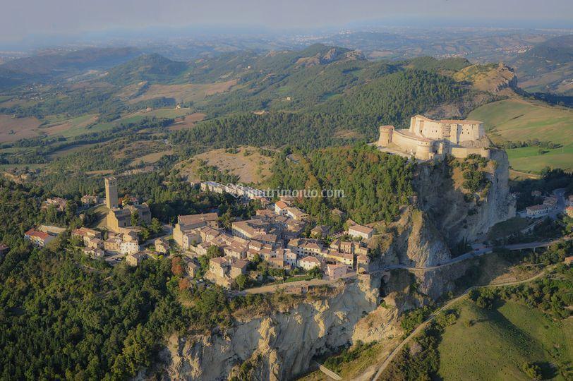 Vedura aerea del borgo