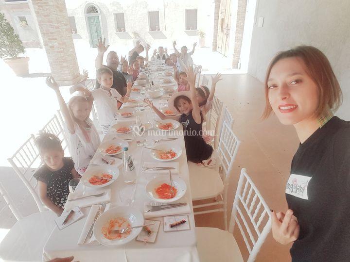 Il tavolo riservato ai bimbi