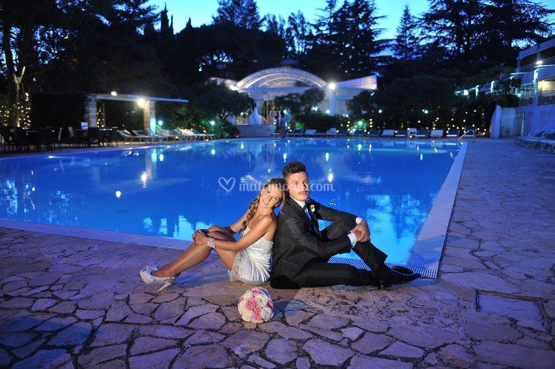 Sposi bordo piscina 2