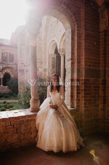 Sposa all'abbazia di Vezzolano