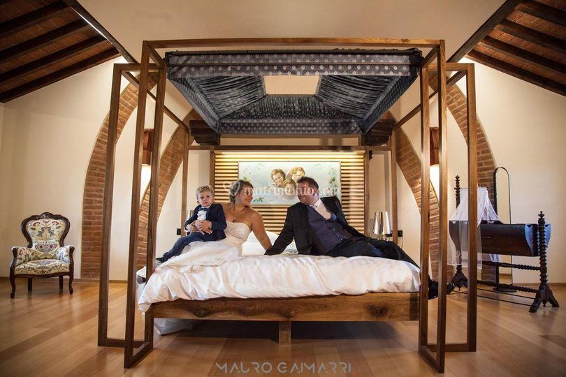 Nella suite matrimoniale