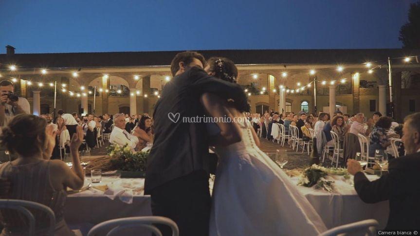 Cena matrimonio all'aperto