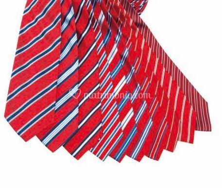 Cravatte rosse rigate