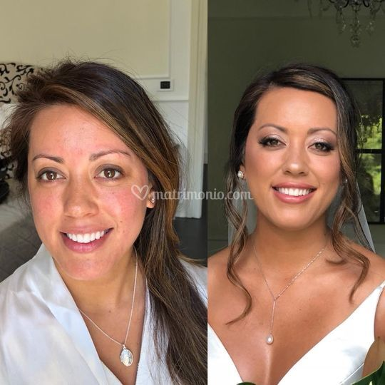 Before & after Makeup sposa