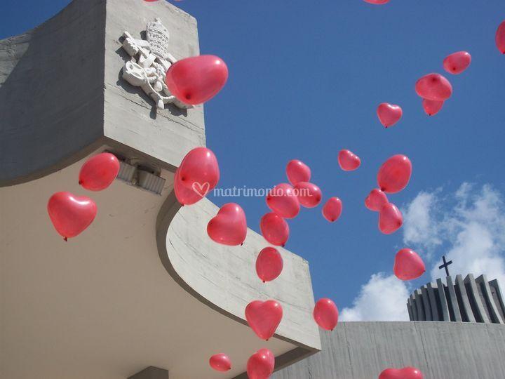 Effetto scenico palloncini