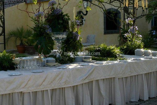 Buffet in giardino privato