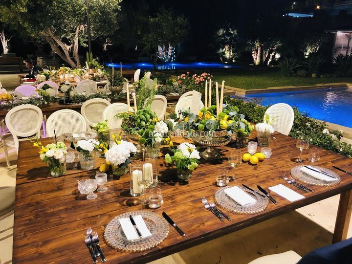 Allestimento giardino arabo