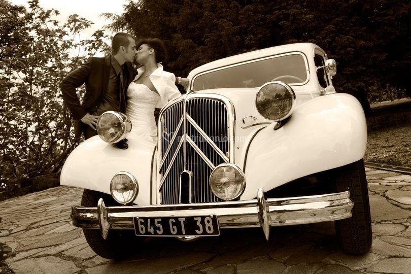 Auto d'epoca matrimonio