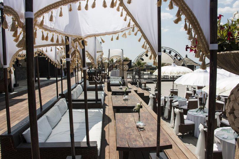 Matrimoni Spiaggia Napoli : Matrimonio napoli rama beach di rama beach cafe foto 17