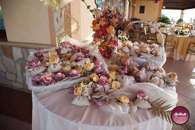 Particolare tavolo bomboniere