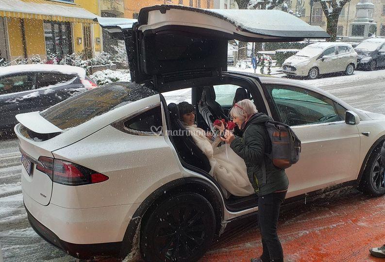 TeslaDream sotto la neve!