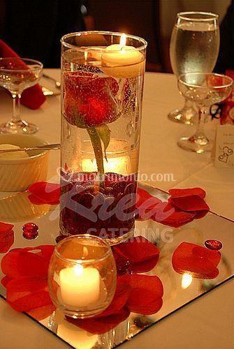 Candele e rose