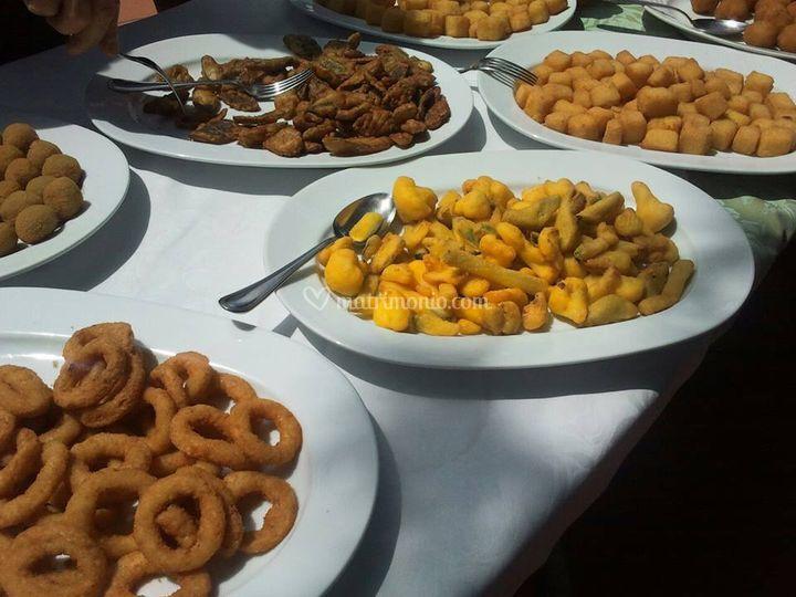 Buffet di verdure pastellate
