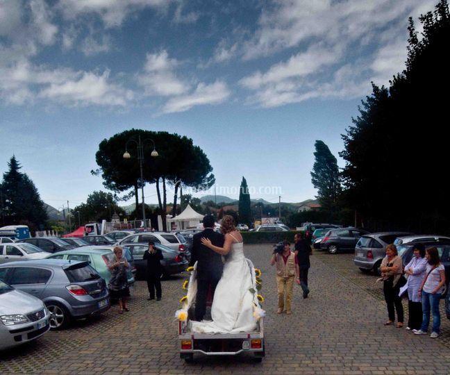 Gli sposi sulla carrozza