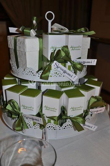 Matrimonio con scatoline