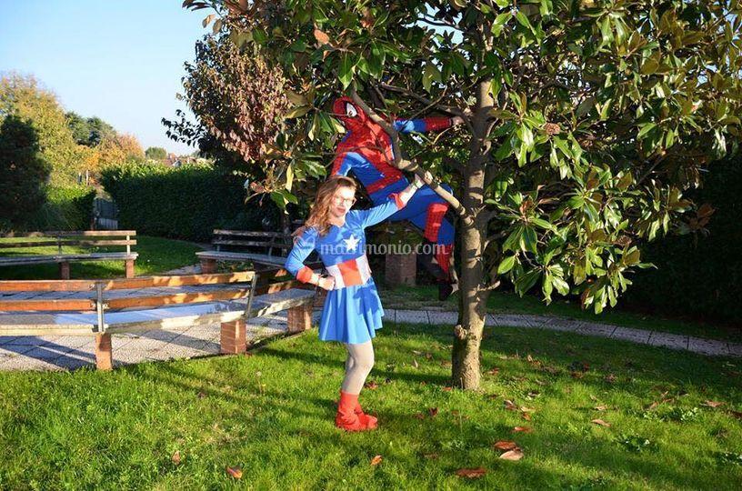 Spiderman e Wonder woman