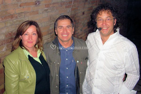 Con Gabriele Marconi durante uno spettacolo
