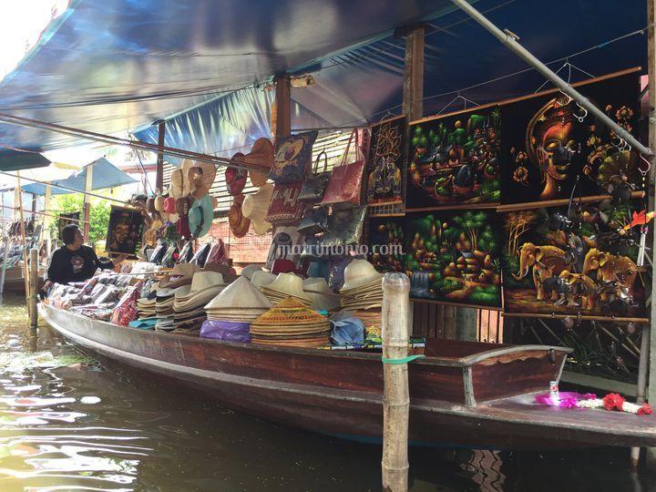 Floating market a bangkok