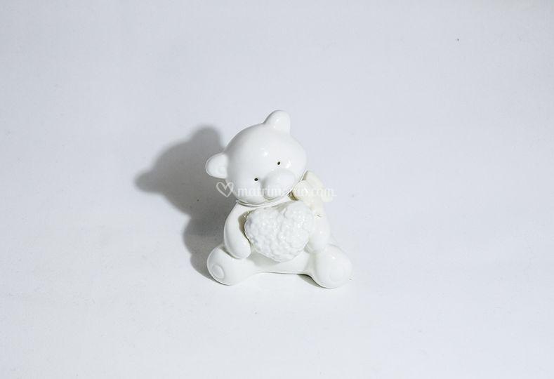 Orsetto porcellana bianca